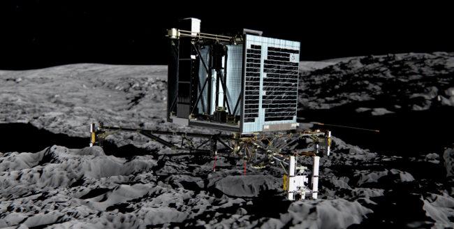 Robotul Philae a gasit molecule organice pe cometa