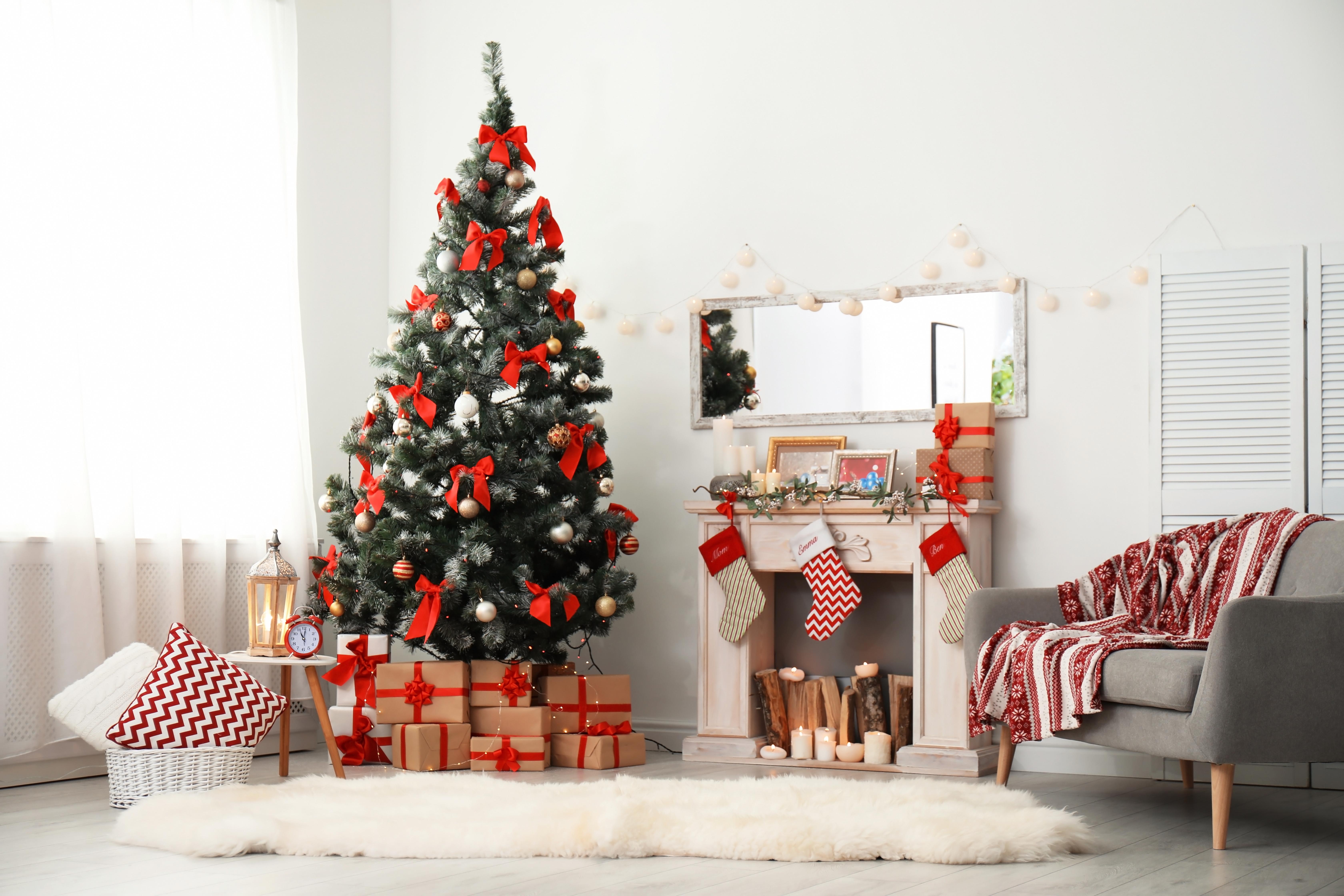 living decorat Crăciun