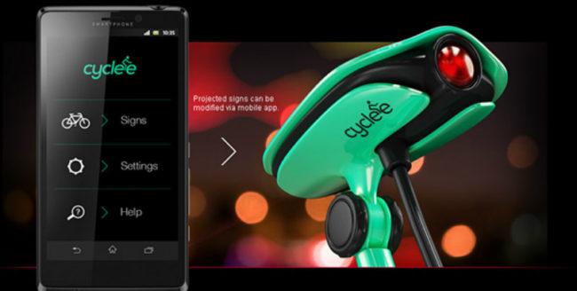 Concept inedit: Dispozitiv care proiectează semne de circulație pe spatele bicicliștilor