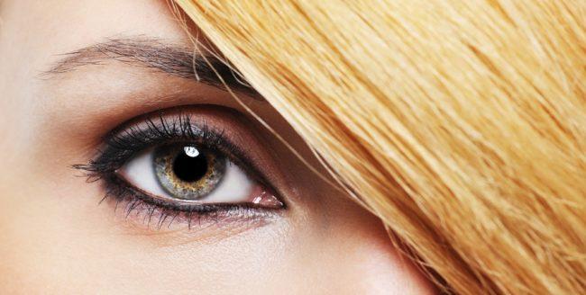 Machiajul ochilor verzi