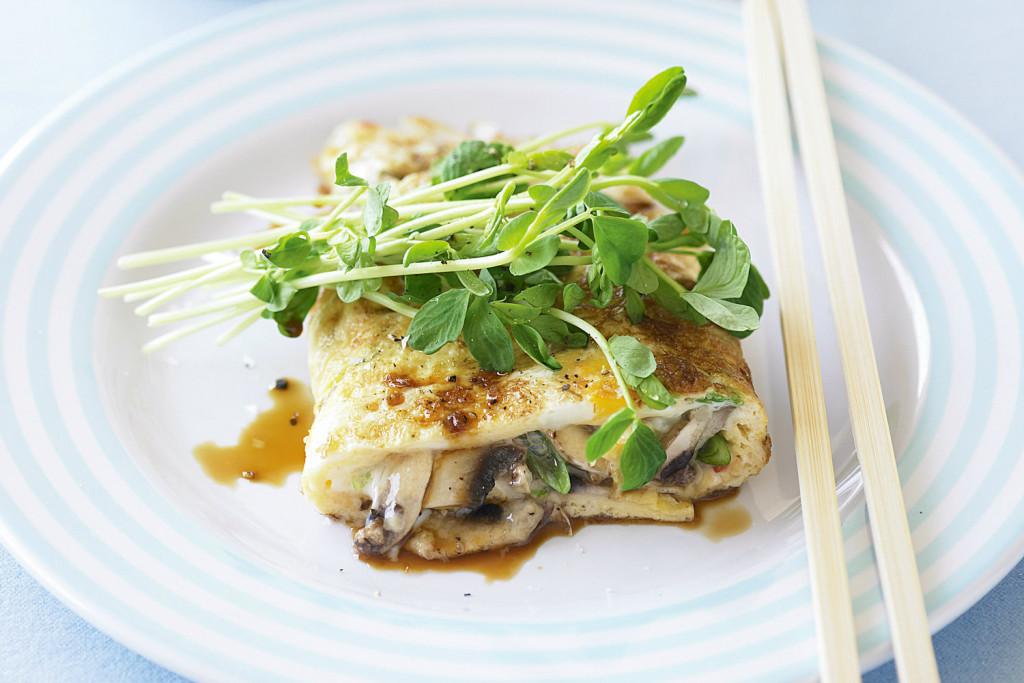 omleta in stil asiatic