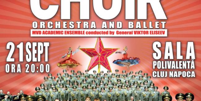 Soldații ruși cuceresc Clujul cu cel mai bun spectacol de muzică și dans din lume