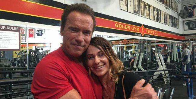 Nadia Comăneci, antrenoare pentru o zi pentru Arnold Schwarzenegger