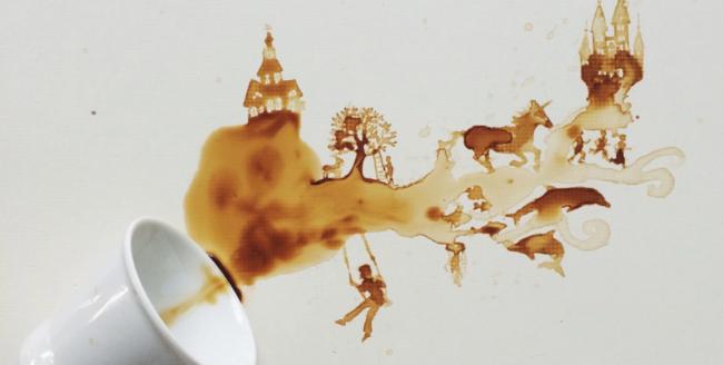 10 imagini cu artă din cafea