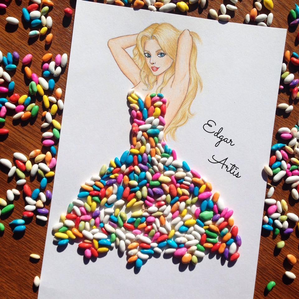 rochie din bomboane