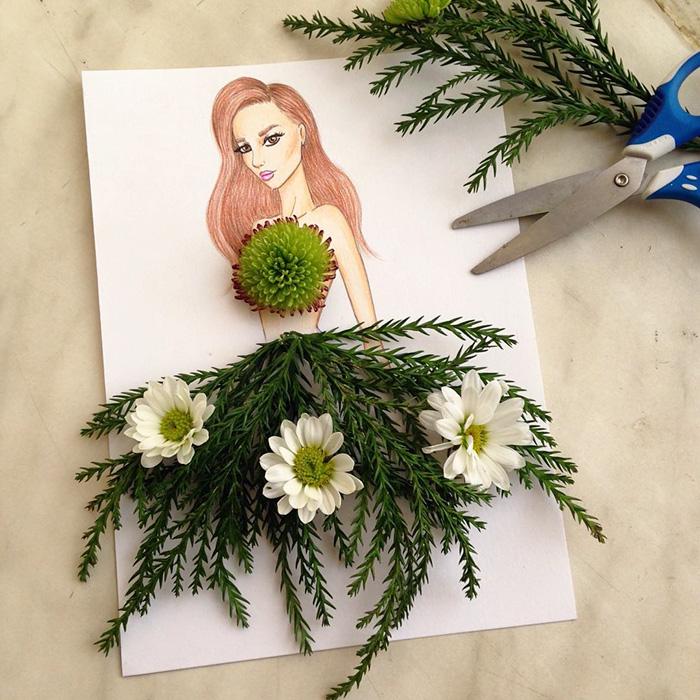 rochie din flori