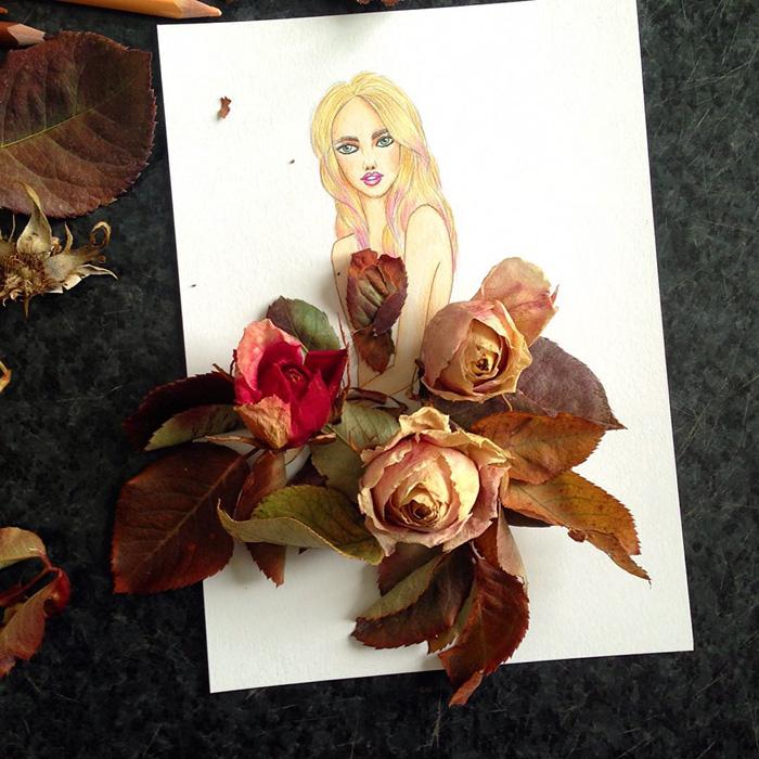 rochie trandafiri