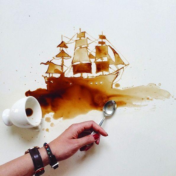 vapor in cafea