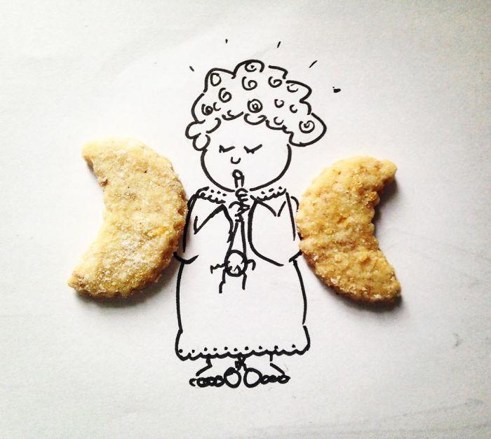 aripi de inger din biscuiti