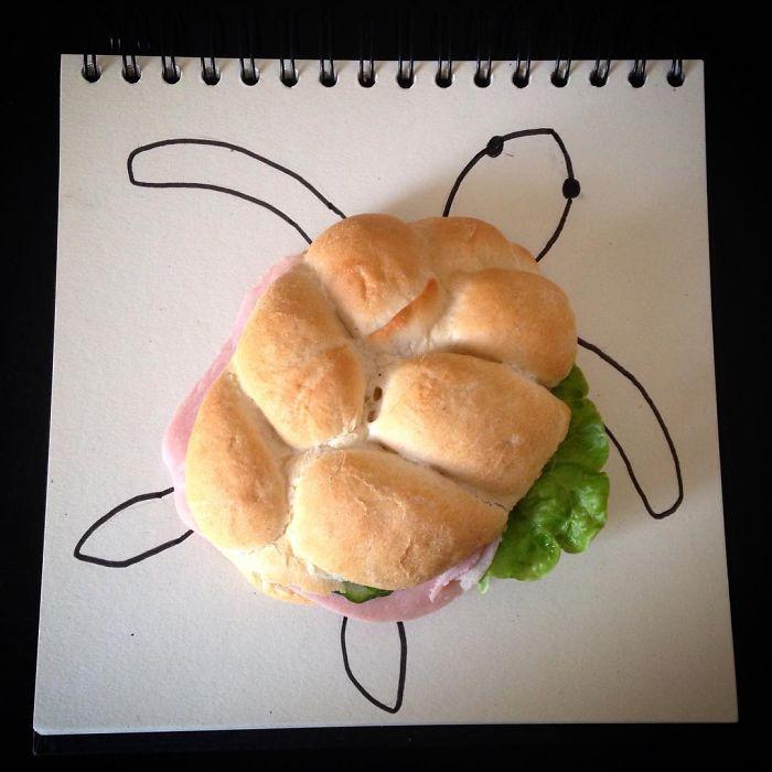 broască testoasă din sandwich