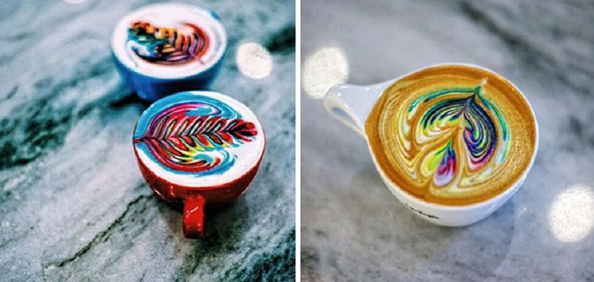 artă în cafea