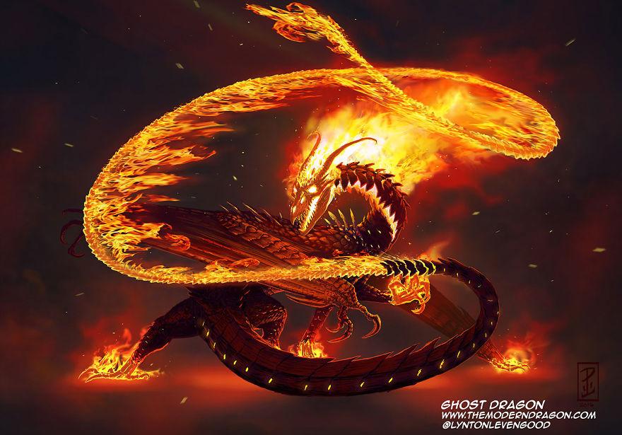 dragon ghost rider