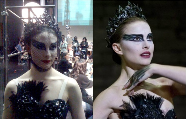 Natalie Portman si dublura sa Sarah Lane