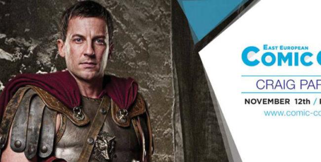 Actorul Craig Parker, invitat la ediția de iarnă a East European Comic Con