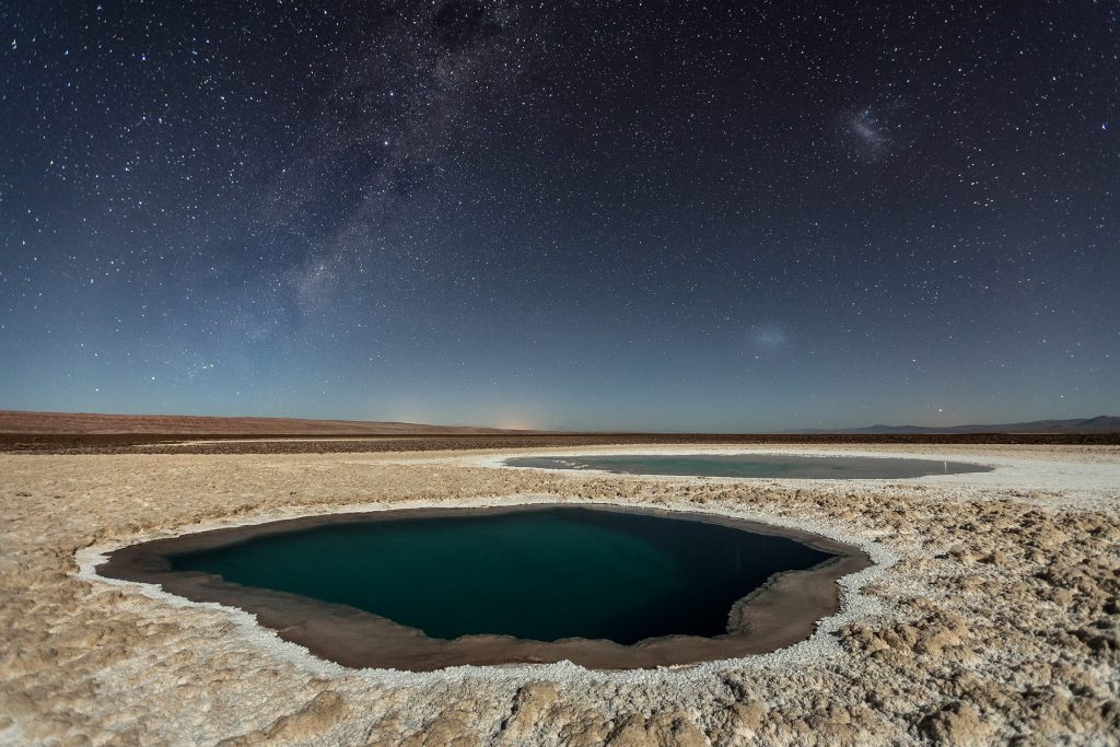 Lagunas Baltinache (Atacama Desert)