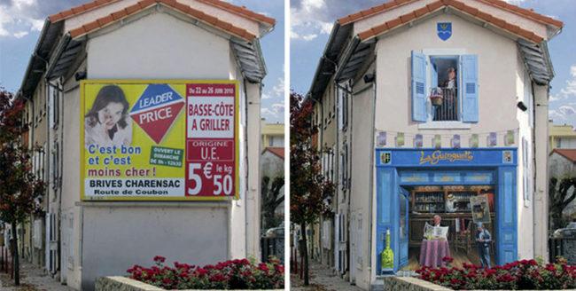 Un artist francez creează opere de artă pe fațadele clădirilor