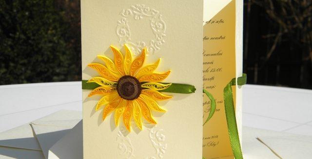 invitatie de nunta handmade