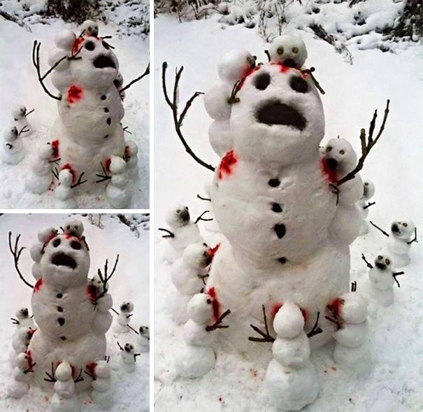 Zombie oameni de zăpadă