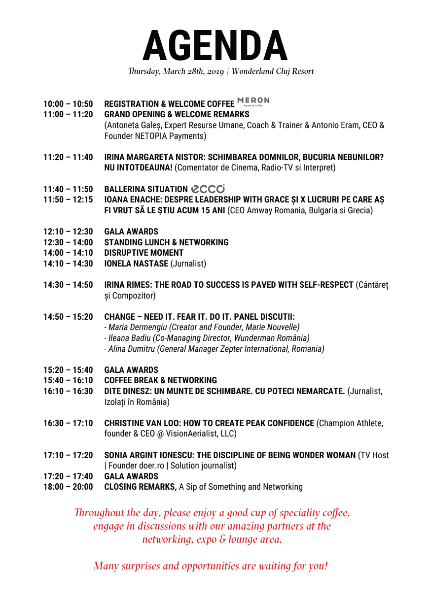 Agenda The Woman Leadership Conference