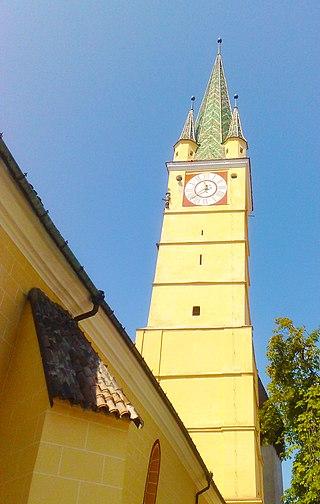 Turnul bisericii evanghelice fortificate medias
