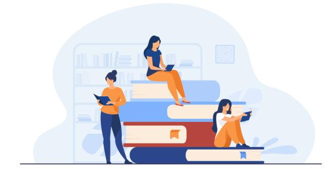 Book readers concept